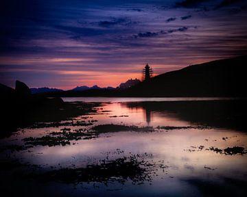 Sonnenuntergang im Norden von Norwegen. von Hamperium Photography