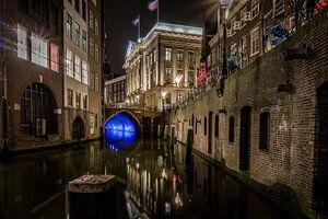 Utrecht Oudegracht avond foto