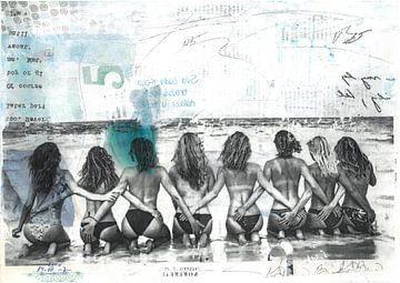Topless Meisjes van Nora Bland
