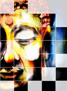 Boeddha - Mozaïek 06022021 van Michael Ladenthin