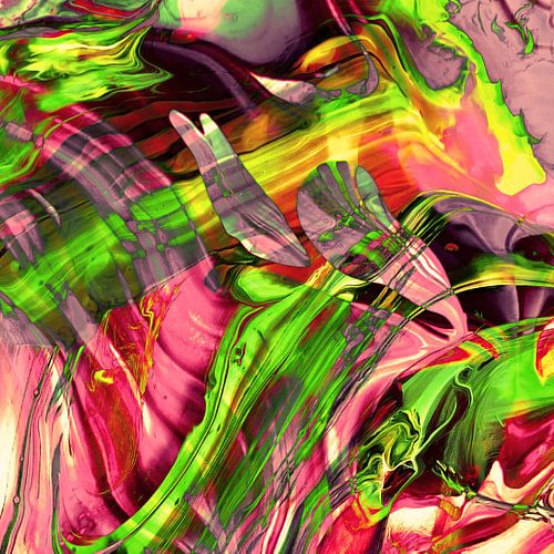 ABSTRACT COLORFUL PAINTING I-B van Pia Schneider