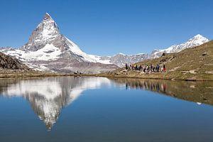 Matterhorn weerspiegeld in de Riffelsee van