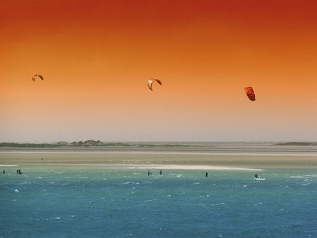 Kitesurfers Terschelling van Jessica Berendsen