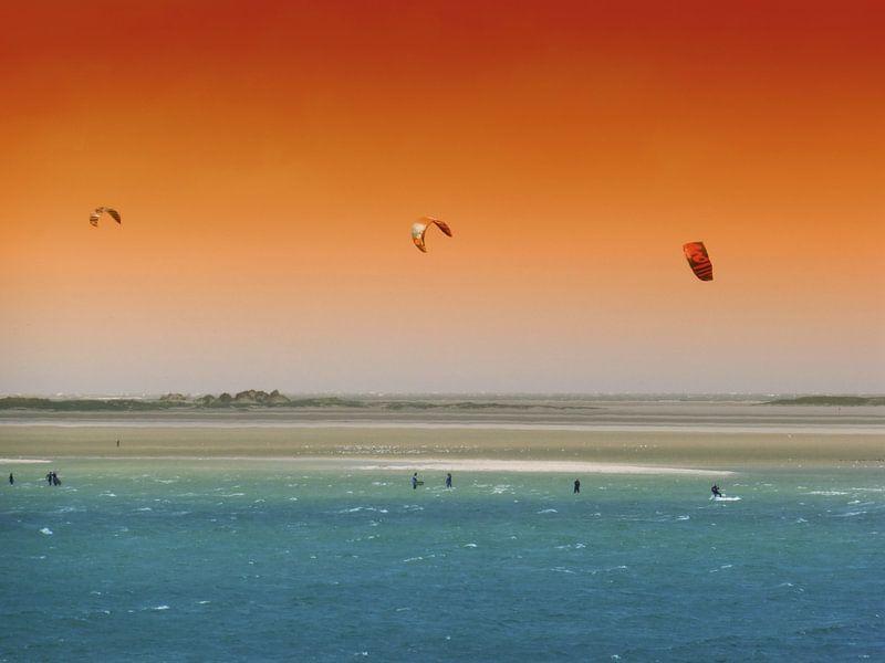 Kitesurfers Terschelling