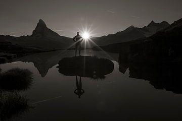 Stellisee Matterhorn von Menno Boermans
