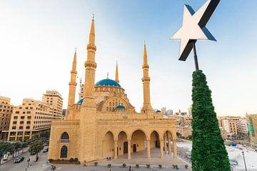 Blaue Moschee in Beirut, Libanon von Bart van Eijden