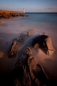 Zonsondergang aan de kust van Audierne, Bretagne