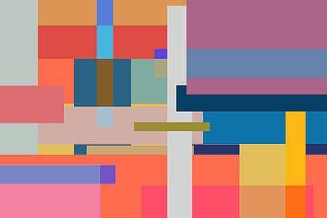 Blokken en lijnen warm van Nicole Roozendaal