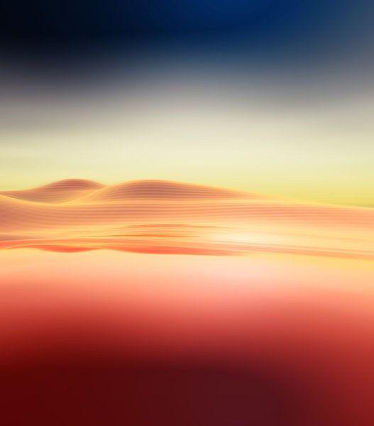 Coucher de soleil dans les montagnes 3 van Angel Estevez