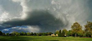 Landschap met wolk