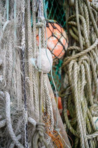 Visnetten en visserij materiaal