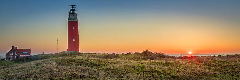 Texel Panorama Leuchtturm. von Twan van den Hombergh