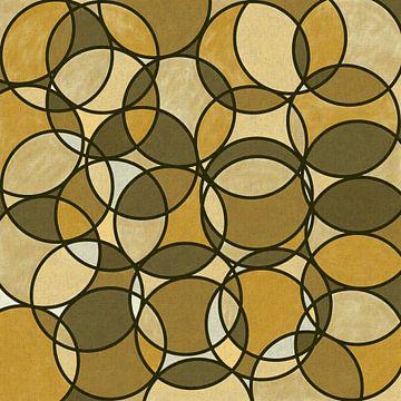 Abstraktes Kreismuster in braun-beigen Farbtönen von Maurice Dawson