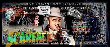 Al Capone Dollarschein von Rene Ladenius Digital Art