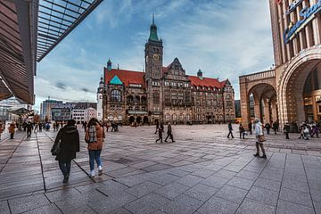 Am Rathaus Platz in Chemnitz von Johnny Flash