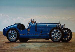 Bugatti Type 35 1924 Schilderij