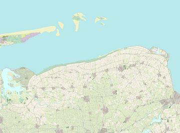 Kaart van Het Hogeland