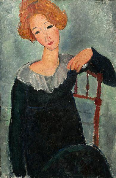 Frau mit roten Haaren, Amedeo Modigliani von Liszt Collection