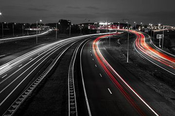 Autobahn bei Alkmaar von Dennis Claessens