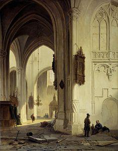 Kerkinterieur, Bartholomeus Johannes van Hove