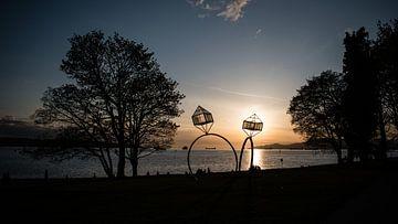 Vancouver sunset van Bjorn van der Wee