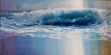 Ciel changeant et trains de vagues. sur Bert Oosthout