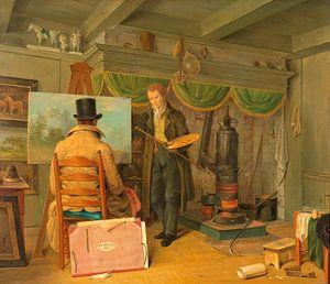 Der Künstler in seinem Atelier, Anthony Oberman