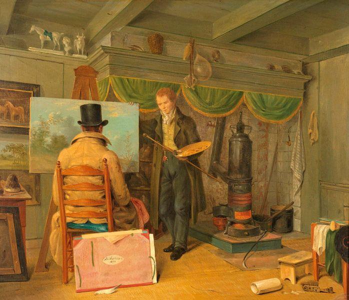Der Künstler in seinem Atelier, Anthony Oberman von Meesterlijcke Meesters