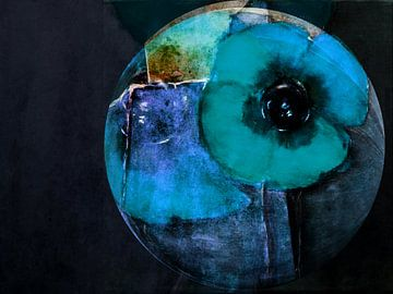Nacht van de papaver - Blue Poppy van Christine Nöhmeier