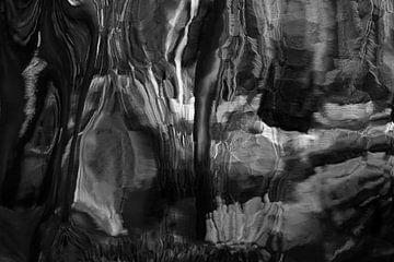 Schwarz/Weiss Abstrakt 6 von Alice Berkien-van Mil