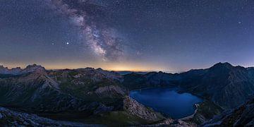 Melkweg boven de Lünersee van Denis Feiner