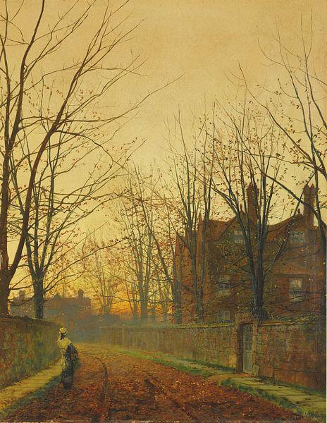Late October, John Atkinson Grimshaw von Meesterlijcke Meesters
