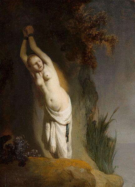Andromeda an einen Felsen - Rembrandt van Rijn von Rembrandt van Rijn
