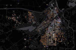 Kaart van Vught abstract