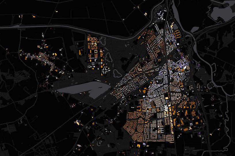 Kaart van Vught abstract van Stef Verdonk