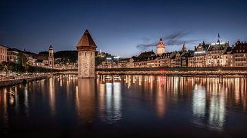 Luzern am Abend von Achim Thomae