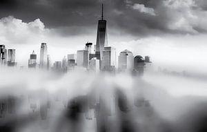 Reflectie van Manhattan New York City van Nannie van der Wal