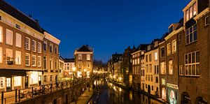 Utrecht Oudegracht in de nacht van