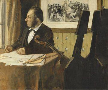 Der Cellist Pilet, Edgar Degas