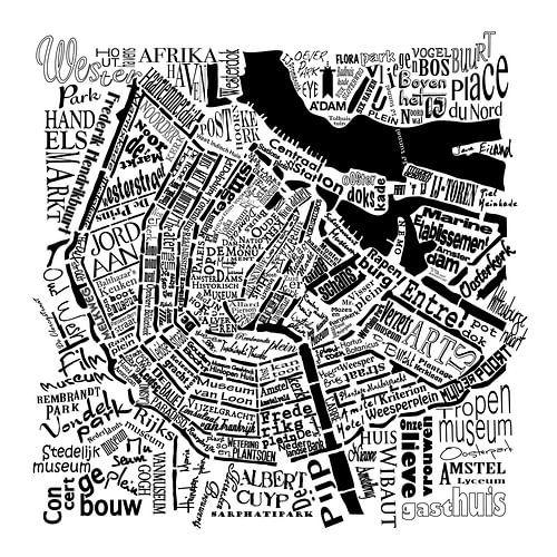 Amsterdam,  typografische plattegrond