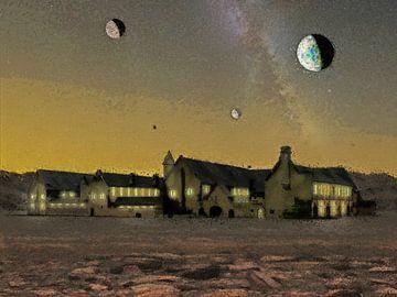 De abdij aan het eind van het heelal