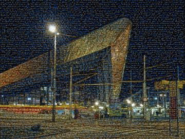 Mozaiek Centraal Station Rotterdam van Fons Simons
