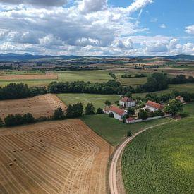 Van boven af zicht op de Auvergne sur Marco Bakker