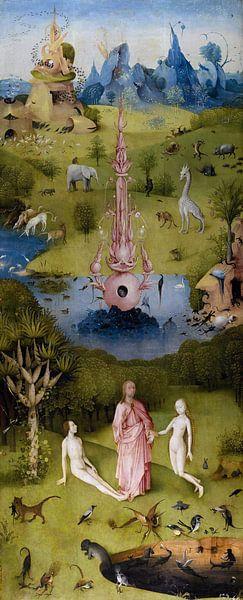 Jeroen Bosch. Tuin der Lusten - Het Paradijs, 1490 van 1000 Schilderijen