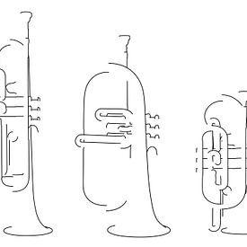 Niet altijd een trompet van Drawn by Johan