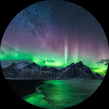 Noorderlicht en Melkweg van Denis Feiner