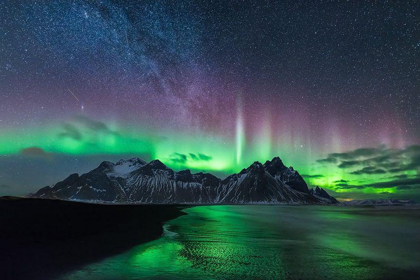Nordlicht und Milchstrasse von Denis Feiner