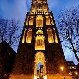 Utrechter Dom von Domplein aus von Donker Utrecht