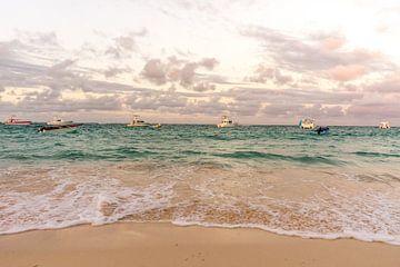 Fischerboote vor der Küste der Dominikanischen Republik von Reis Genie