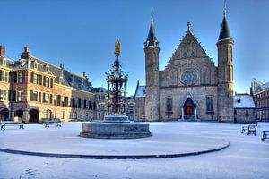Binnenhof in de Sneeuw